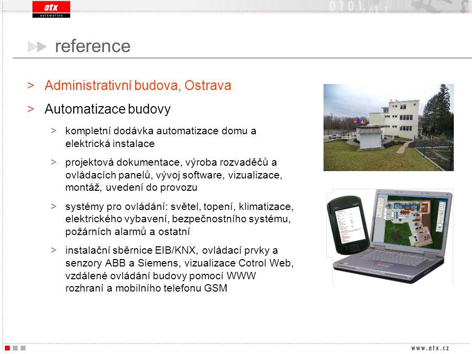 >Administrativní budova, Ostrava >Automatizace budovy >kompletní dodávka automatizace domu a elektrická instalace >projektová dokumentace, výroba rozv
