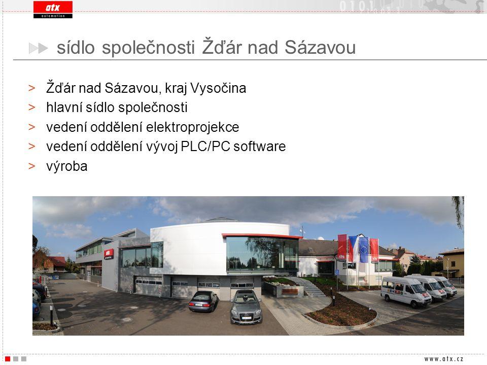 >Žďár nad Sázavou, kraj Vysočina >hlavní sídlo společnosti >vedení oddělení elektroprojekce >vedení oddělení vývoj PLC/PC software >výroba sídlo spole