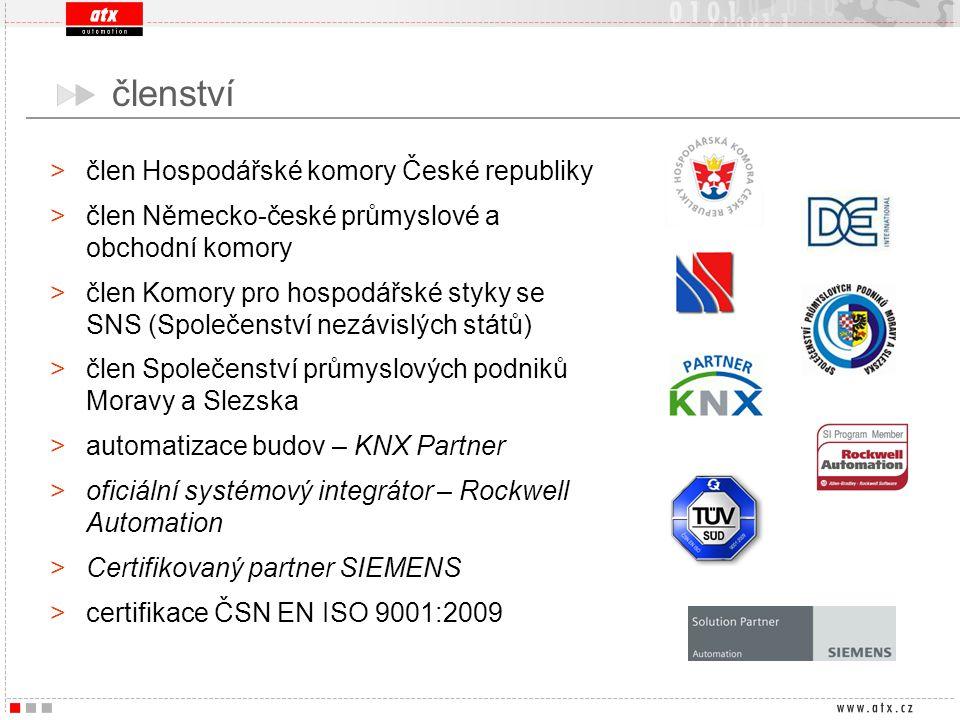 >člen Hospodářské komory České republiky >člen Německo-české průmyslové a obchodní komory >člen Komory pro hospodářské styky se SNS (Společenství nezá
