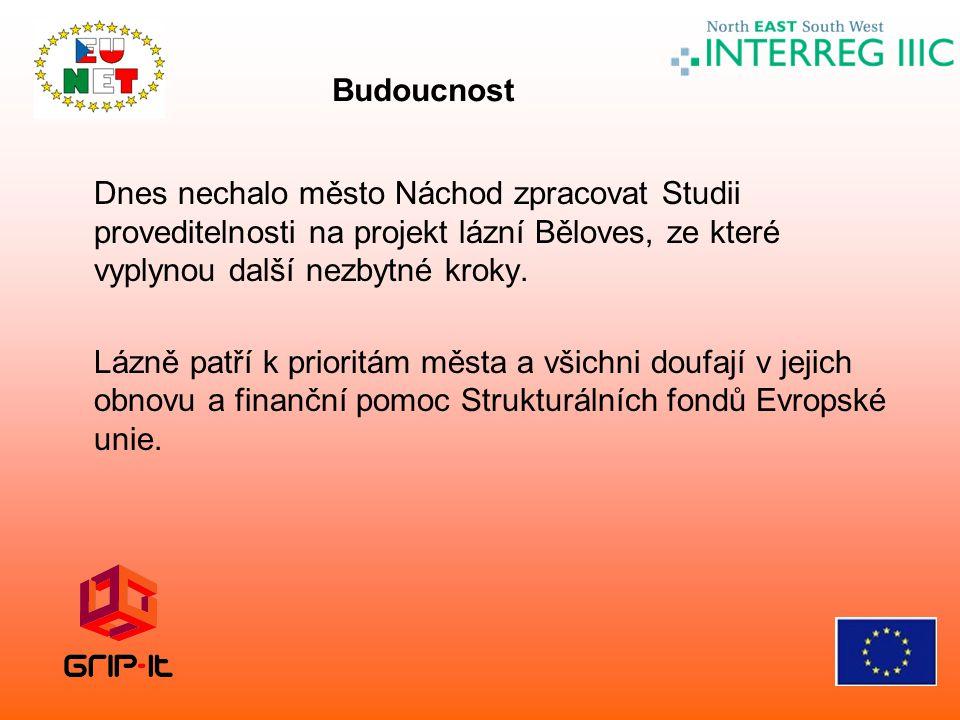 Dnes nechalo město Náchod zpracovat Studii proveditelnosti na projekt lázní Běloves, ze které vyplynou další nezbytné kroky. Lázně patří k prioritám m