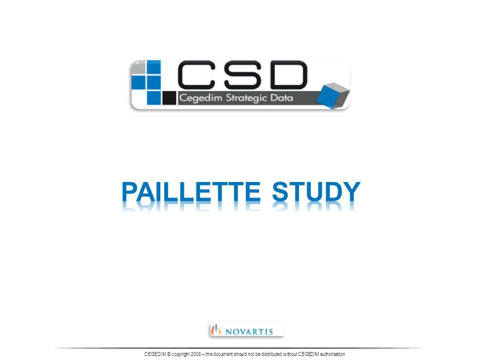 hodnota je známa Cegedim CZ, Cegedim Strategic Data 2008 Novartis – Paillette study Ot.