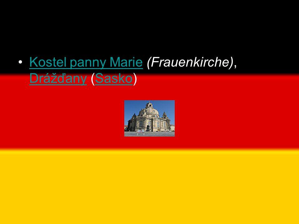 •Kostel panny Marie (Frauenkirche), Drážďany (Sasko)Kostel panny Marie DrážďanySasko