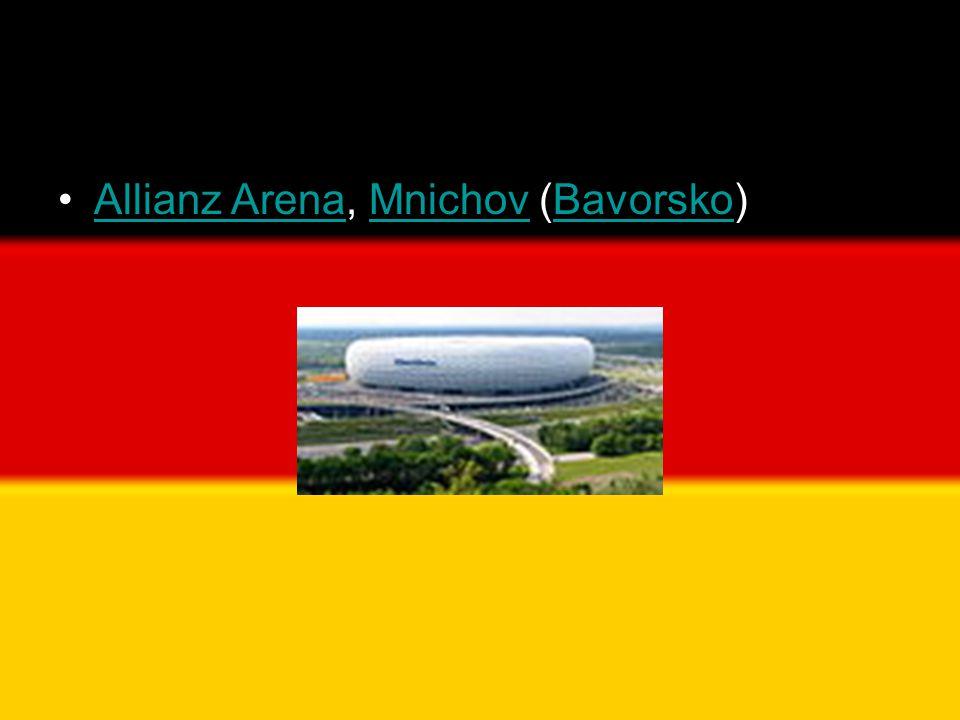 •Allianz Arena, Mnichov (Bavorsko)Allianz ArenaMnichovBavorsko