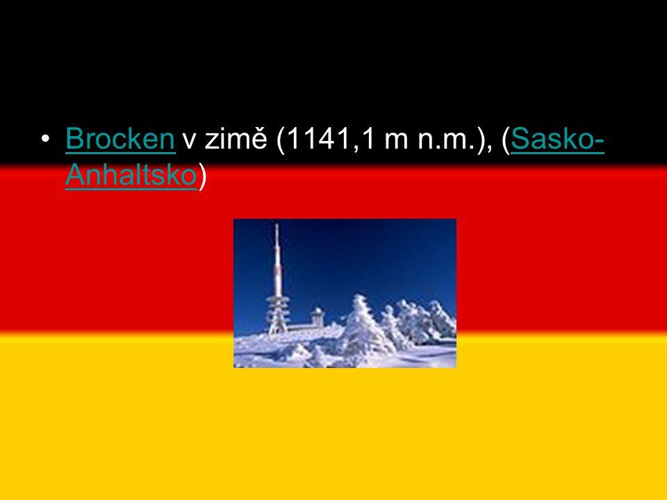 •Brocken v zimě (1141,1 m n.m.), (Sasko- Anhaltsko)BrockenSasko- Anhaltsko
