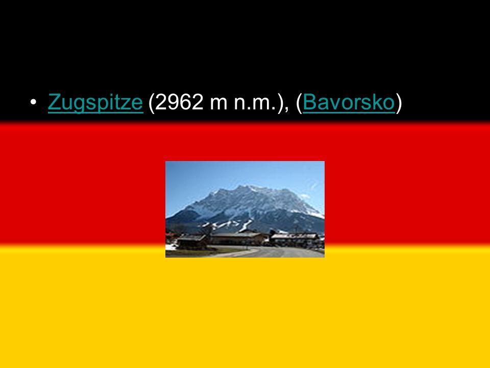 •Zugspitze (2962 m n.m.), (Bavorsko)ZugspitzeBavorsko