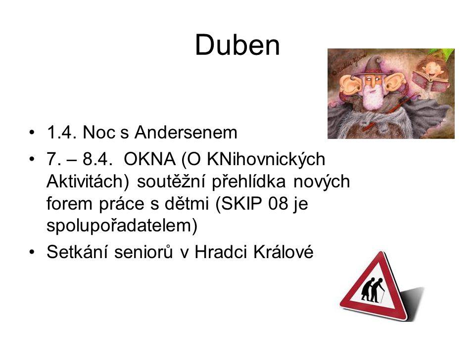 Duben •1.4. Noc s Andersenem •7.
