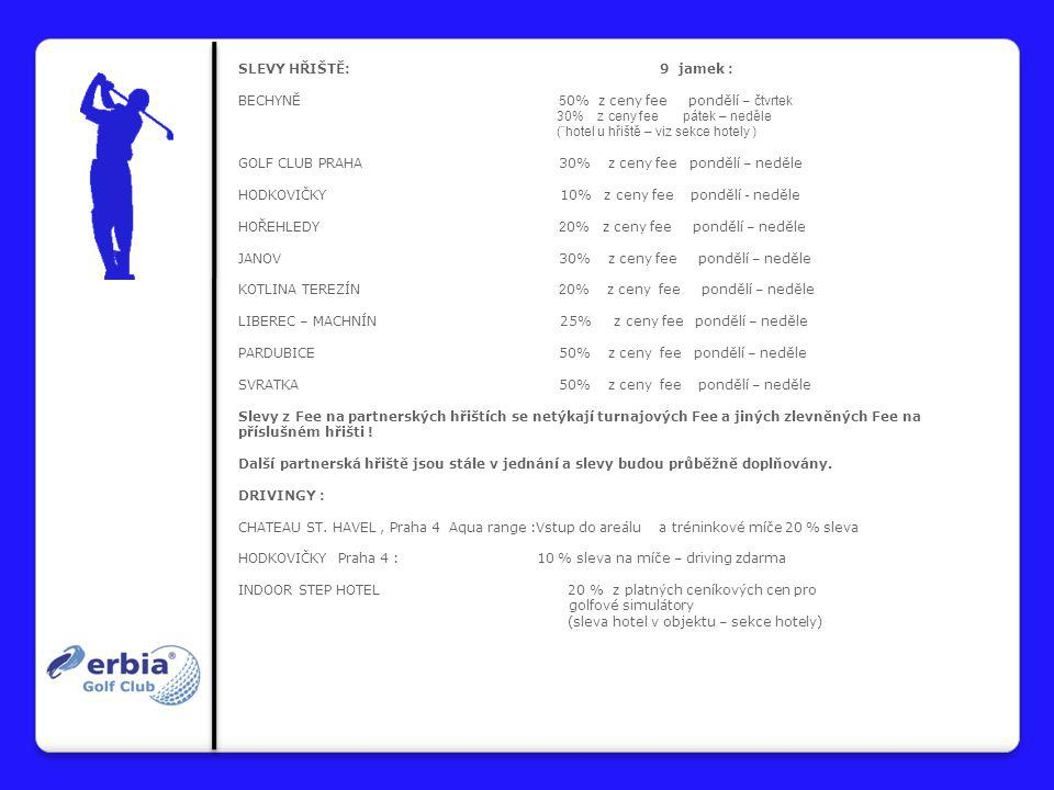 """SPOJENÉ ČLENSTVÍ : ERBIA + KARLŠTEJN :cena 50.000,- Kč obsahuje roční členství v G.C.Erbia + G.C.Karlštejn s neomezeným hraním na hřišti ERBIA + ¨HLUBOKÁ + RAKOUSKO :cena 15.900,- Kč obsahuje roční členství v G.C.Erbia a G.C.Hluboká s neomezeným hraním na hřišti Hluboká a partnerských rakouských hřištích """" Weitra + Böhmerwald ERBIA + CHATEAU ST."""