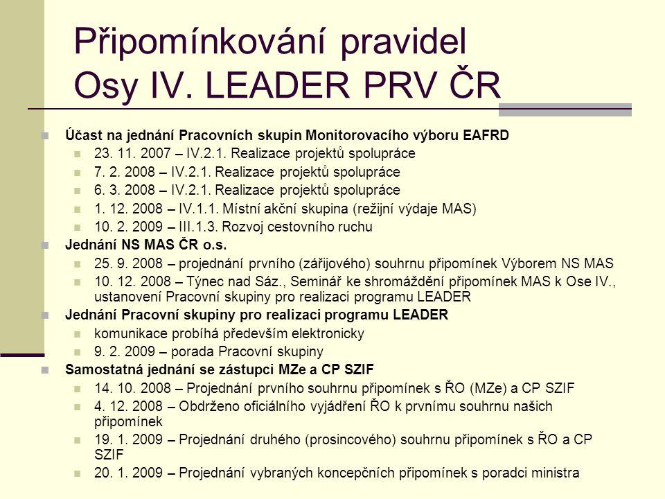Pracovní skupina pro realizaci programu LEADER  Ustanovena na semináři 10.