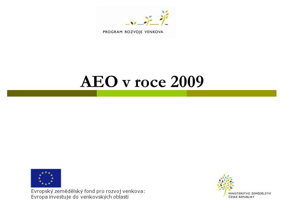Platí i pro AEO PRV (EAFRD) – tedy i mimo zranitelné oblasti!