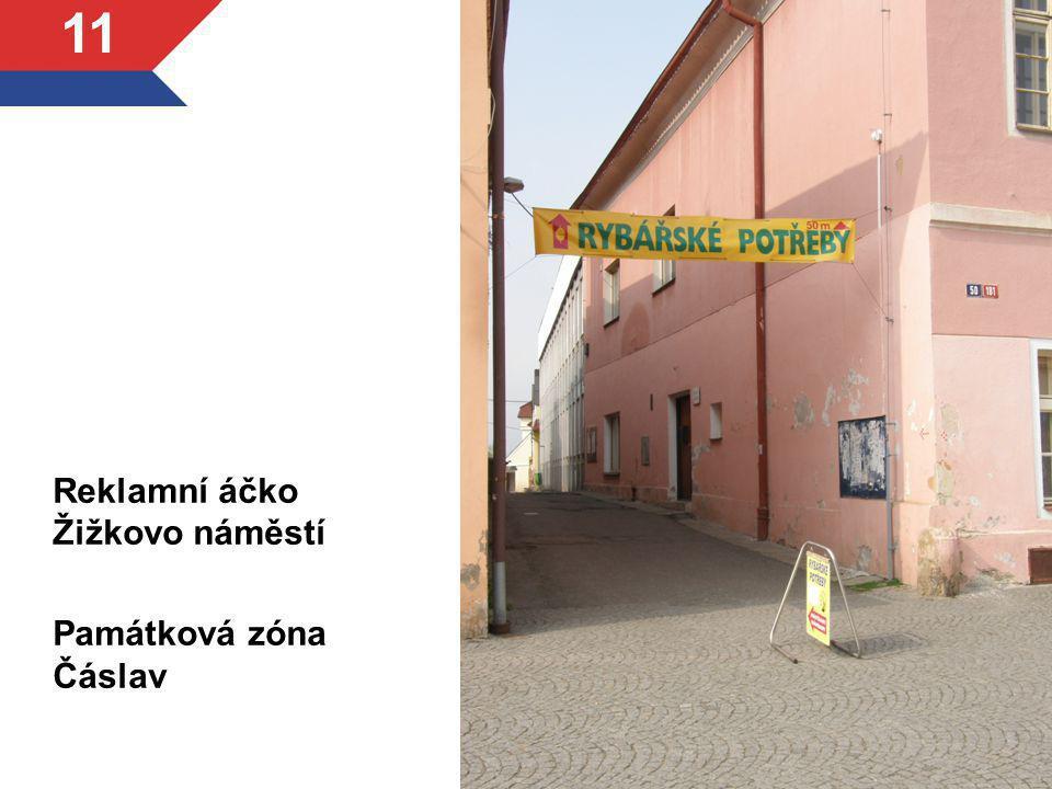 Reklamní áčko Žižkovo náměstí Památková zóna Čáslav 11