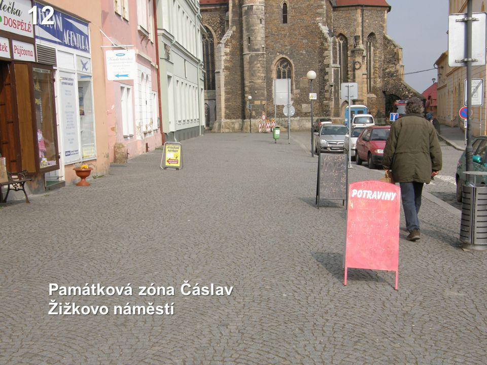 12 Památková zóna Čáslav Žižkovo náměstí