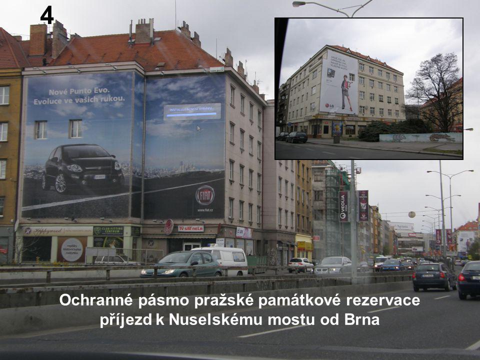 Ochranné pásmo pražské památkové rezervace příjezd k Nuselskému mostu od Brna 4