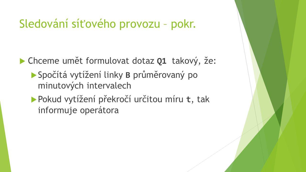 Sledování síťového provozu – pokr.