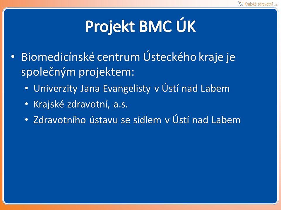 • Biomedicínské centrum Ústeckého kraje je společným projektem: • Univerzity Jana Evangelisty v Ústí nad Labem • Krajské zdravotní, a.s. • Zdravotního