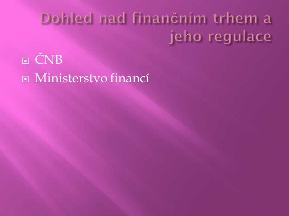  ČNB  Ministerstvo financí