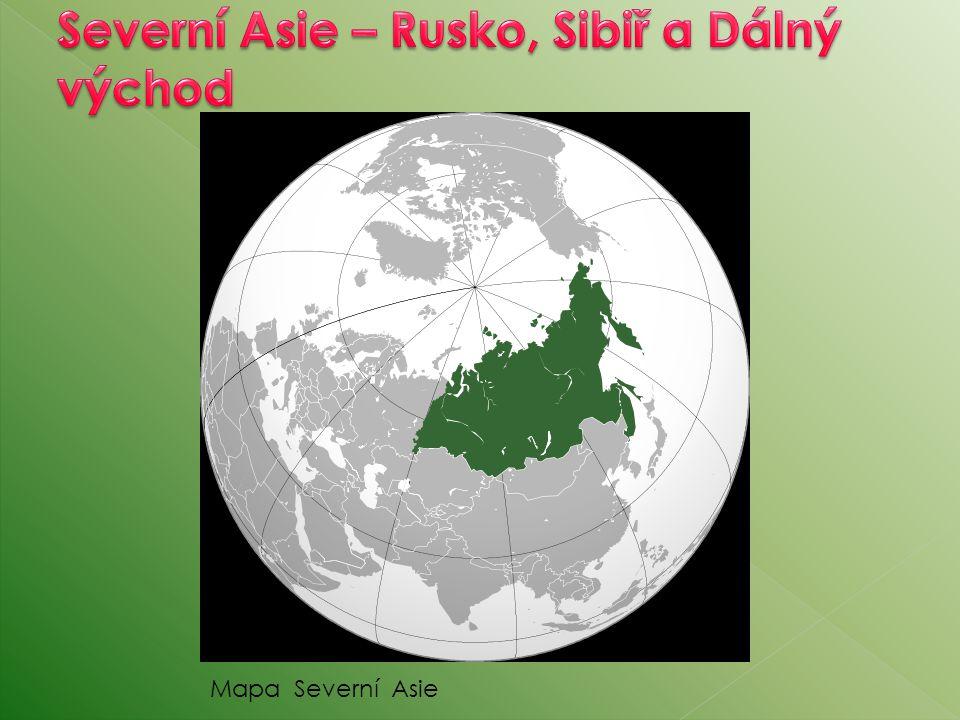Mapa Severní Asie