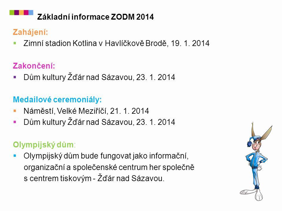 Zahájení:  Zimní stadion Kotlina v Havlíčkově Brodě, 19. 1. 2014 Zakončení:  Dům kultury Žďár nad Sázavou, 23. 1. 2014 Medailové ceremoniály:  Námě