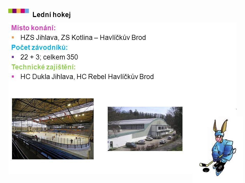 Místo konání:  HZS Jihlava, ZS Kotlina – Havlíčkův Brod Počet závodníků:  22 + 3; celkem 350 Technické zajištění:  HC Dukla Jihlava, HC Rebel Havlíčkův Brod Lední hokej