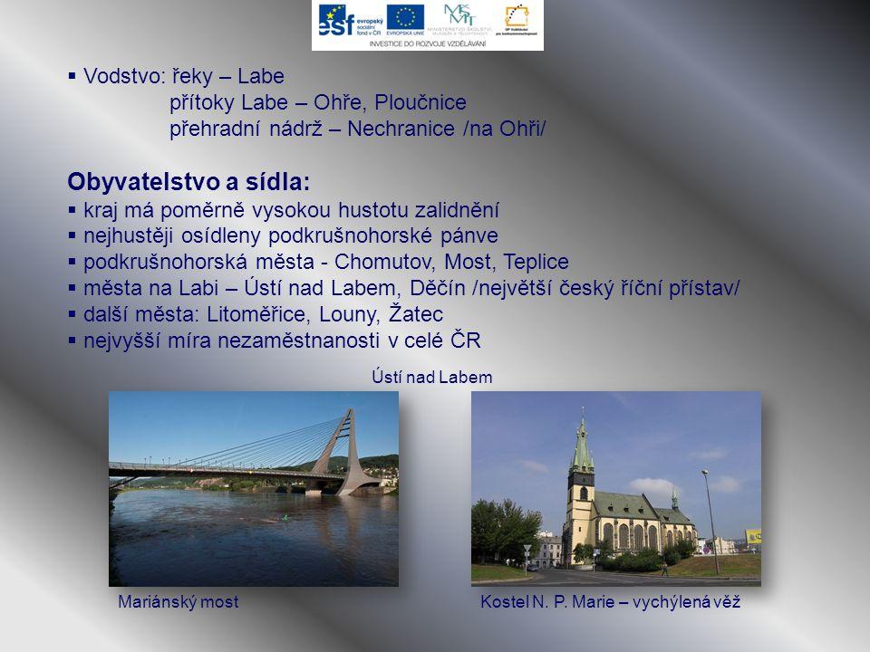 Most - sídliště Litoměřice – kostel sv. Štěpána DěčínŽatec Teplice - lázněÚstí nad Labem