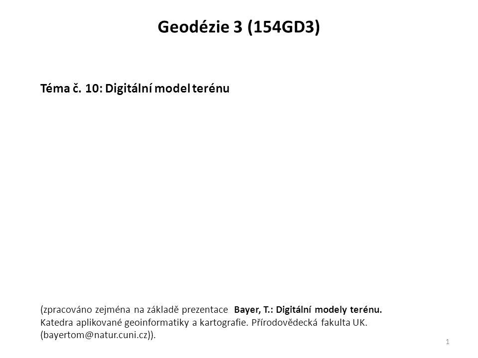 12 Digitální model terénu. DMT v ČR: