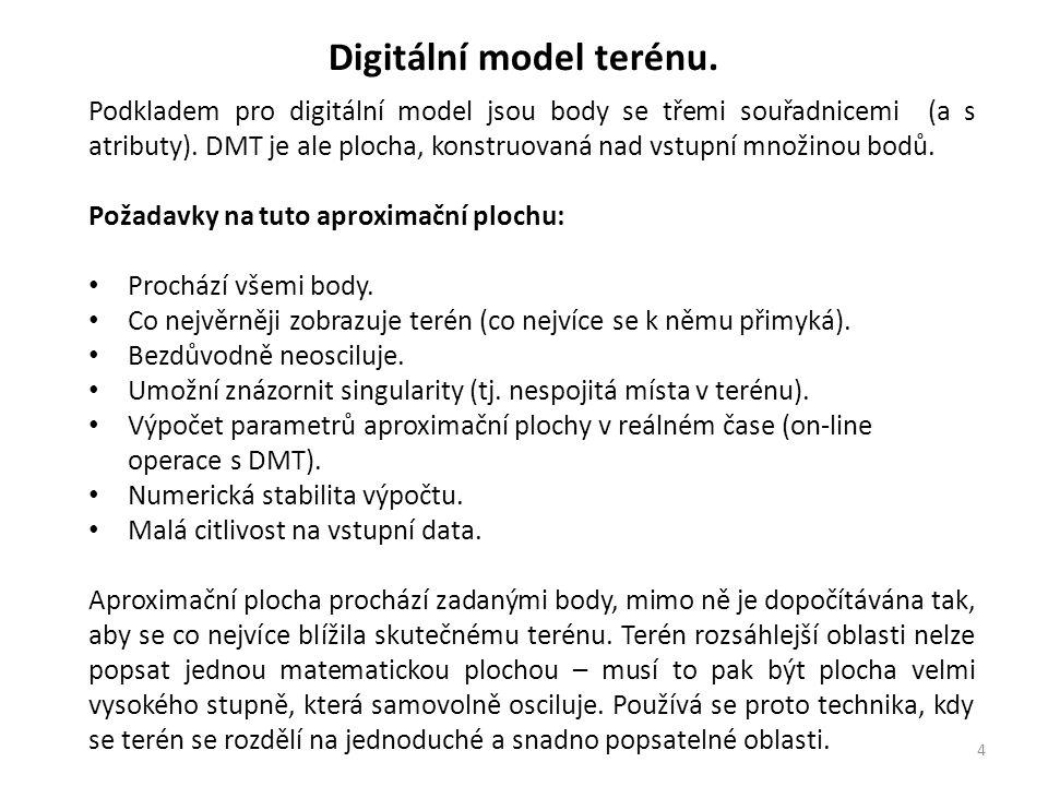 5 Digitální model terénu.
