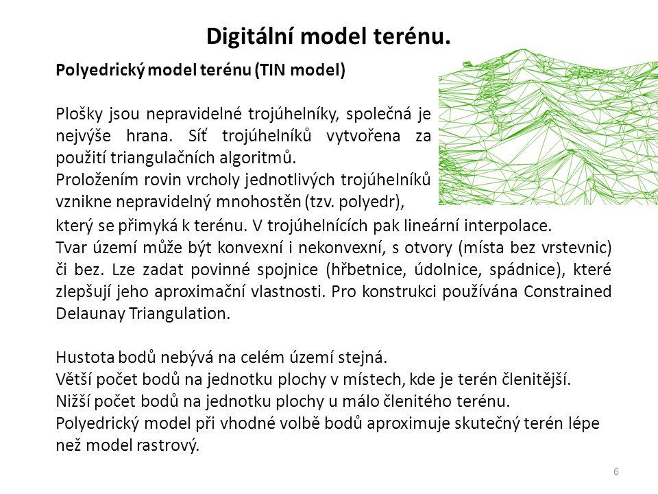 7 Digitální model terénu.