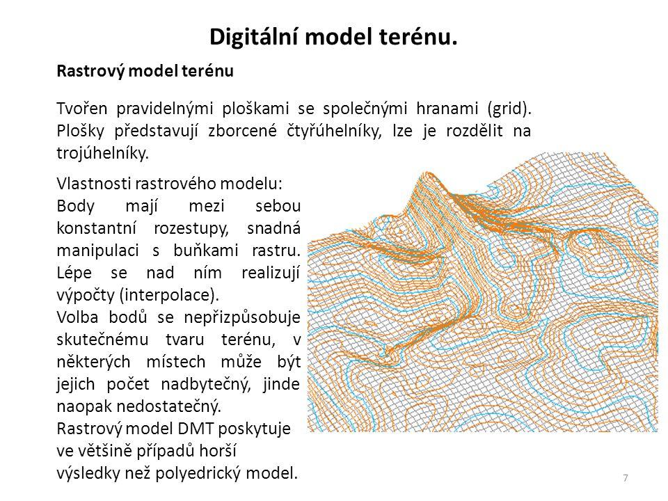 8 Digitální model terénu.