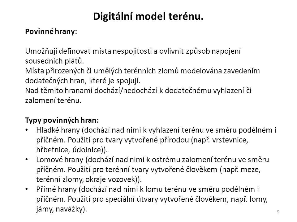 10 Digitální model terénu.