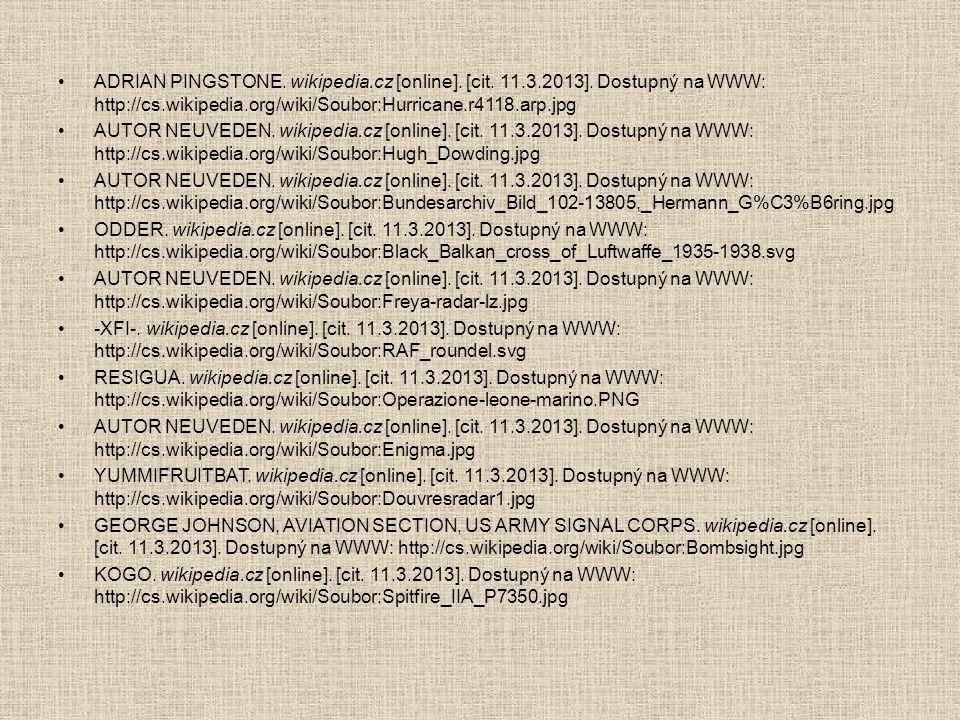 •ADRIAN PINGSTONE. wikipedia.cz [online]. [cit. 11.3.2013]. Dostupný na WWW: http://cs.wikipedia.org/wiki/Soubor:Hurricane.r4118.arp.jpg •AUTOR NEUVED