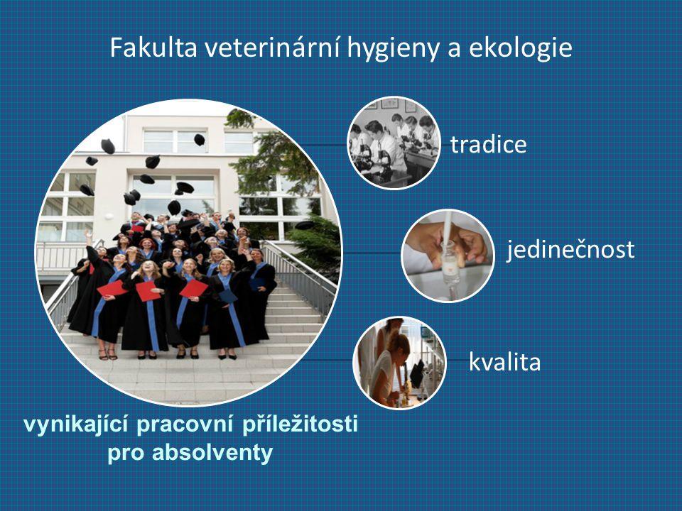 Fakulta veterinární hygieny a ekologie vynikající pracovní příležitosti pro absolventy tradice jedinečnost kvalita