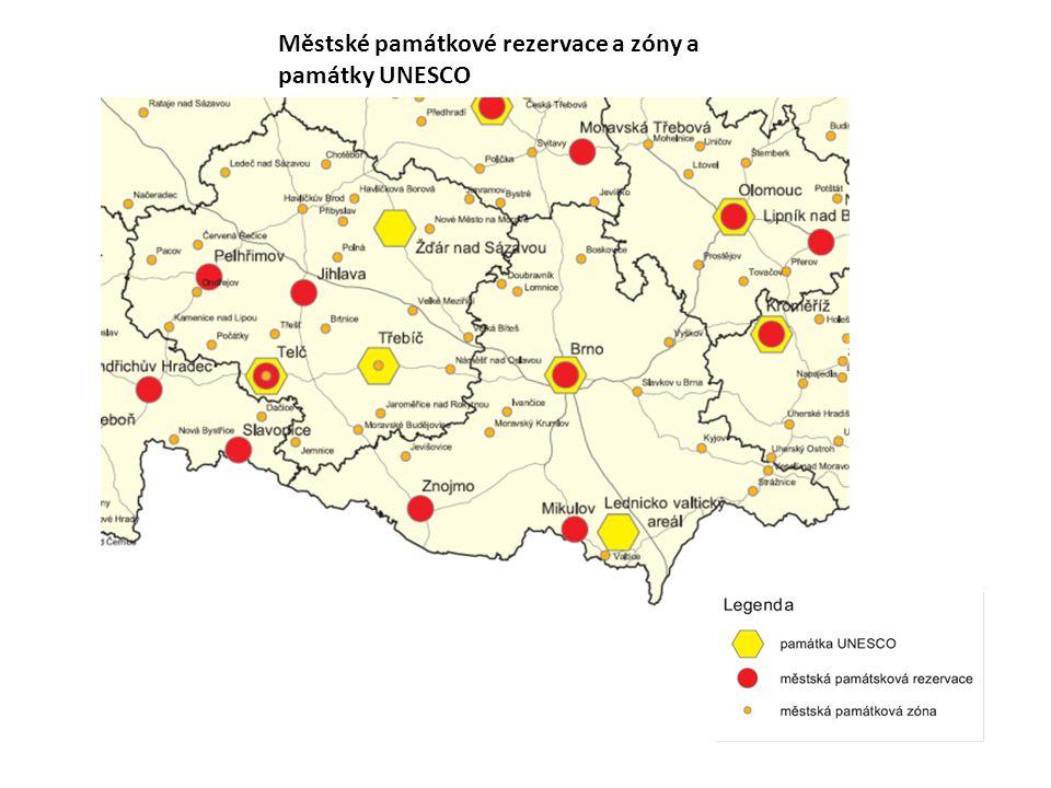 Městské památkové rezervace a zóny a památky UNESCO