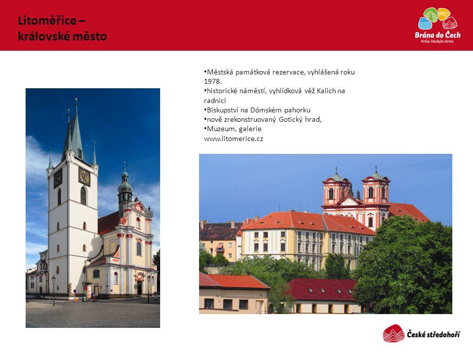 • Městská památková rezervace, vyhlášená roku 1978. • historické náměstí, vyhlídková věž Kalich na radnici • Biskupství na Dómském pahorku • nově zrek