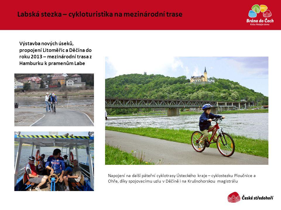 Labská stezka – cykloturistika na mezinárodní trase Výstavba nových úseků, propojení Litoměřic a Děčína do roku 2013 – mezinárodní trasa z Hamburku k