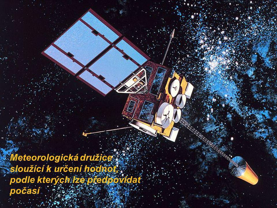 Meteorologická družice sloužící k určení hodnot, podle kterých lze předpovídat počasí