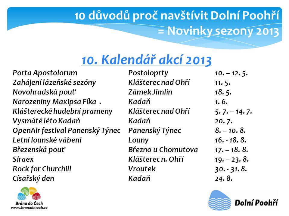 10.Kalendář akcí 2013 Porta Apostolorum Postoloprty 10.