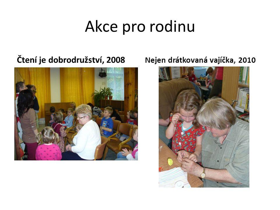 Akce pro rodinu Čtení je dobrodružství, 2008 Nejen drátkovaná vajíčka, 2010