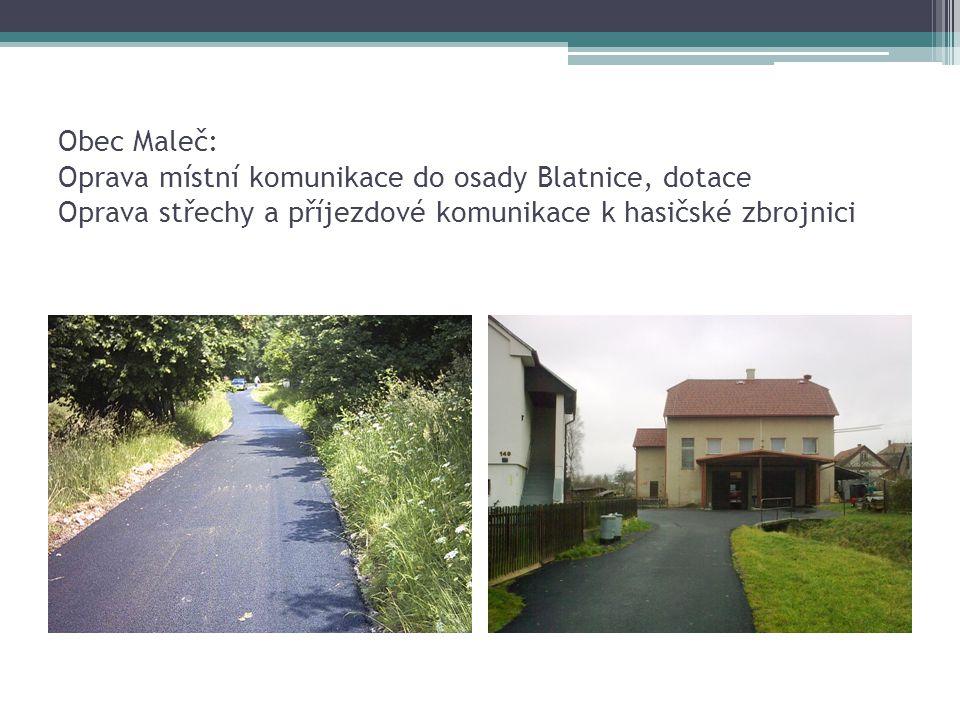 Obec Maleč: Nákup mostní konstrukce AM – 50 a její trvalá instalace