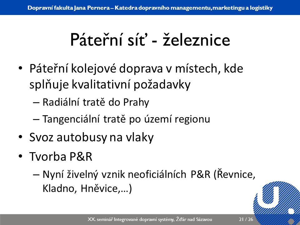 Katedra dopravního managementu, marketingu a logistiky KDMML/PLMGP Logistický management21 / 12 Dopravní fakulta Jana Pernera – Katedra dopravního man