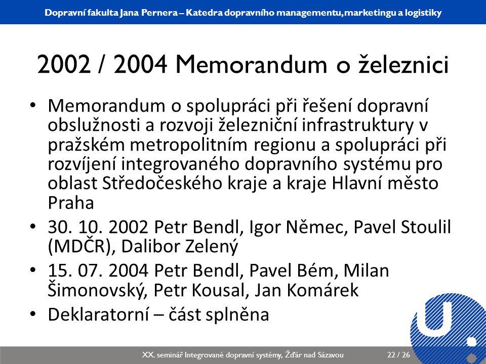 Katedra dopravního managementu, marketingu a logistiky KDMML/PLMGP Logistický management22 / 12 Dopravní fakulta Jana Pernera – Katedra dopravního man