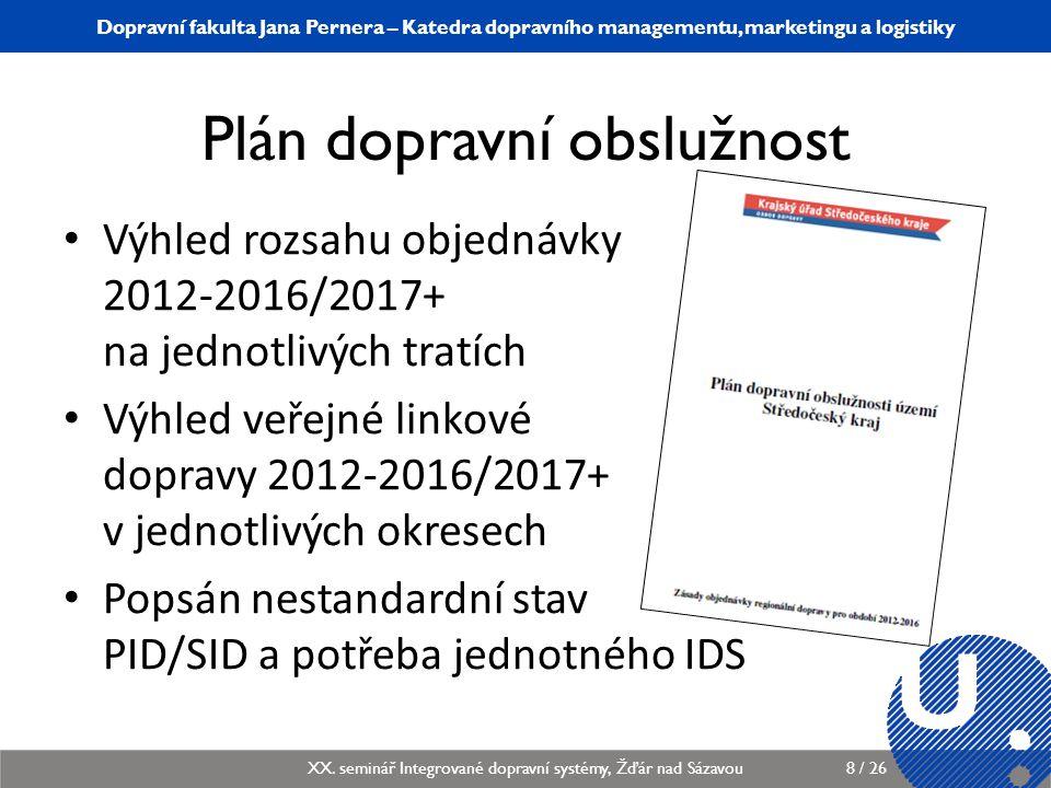 Katedra dopravního managementu, marketingu a logistiky KDMML/PLMGP Logistický management9 / 12 Dopravní fakulta Jana Pernera – Katedra dopravního managementu, marketingu a logistiky XX.