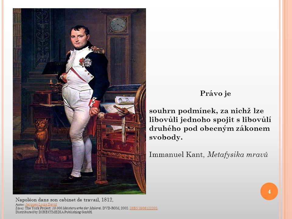 Napoléon dans son cabinet de travail, 1812, Autor: Jacques-Louis David Jacques-Louis David Zdroj: The York Project: 10.000 Meisterwerke der Malerei. D