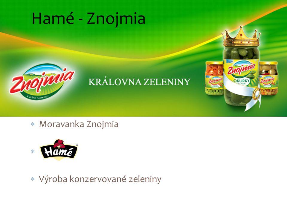 Hamé - Znojmia  Moravanka Znojmia   Výroba konzervované zeleniny