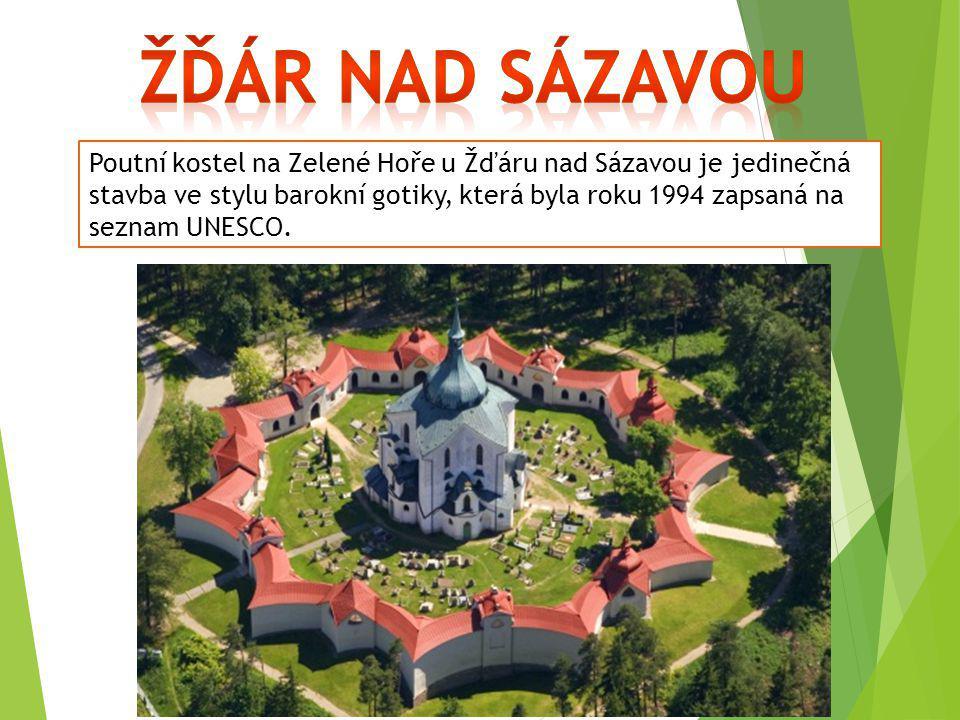 Poutní kostel na Zelené Hoře u Žďáru nad Sázavou je jedinečná stavba ve stylu barokní gotiky, která byla roku 1994 zapsaná na seznam UNESCO.