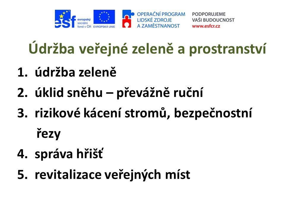 Údržba veřejné zeleně a prostranství 1.údržba zeleně 2.