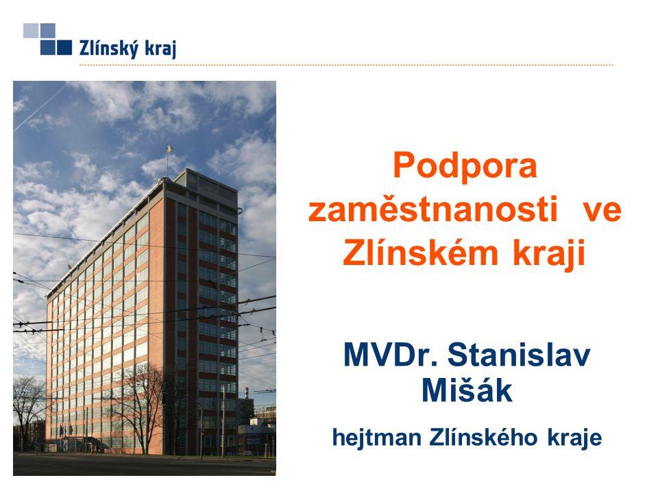 Podpora zaměstnanosti ve Zlínském kraji MVDr. Stanislav Mišák hejtman Zlínského kraje