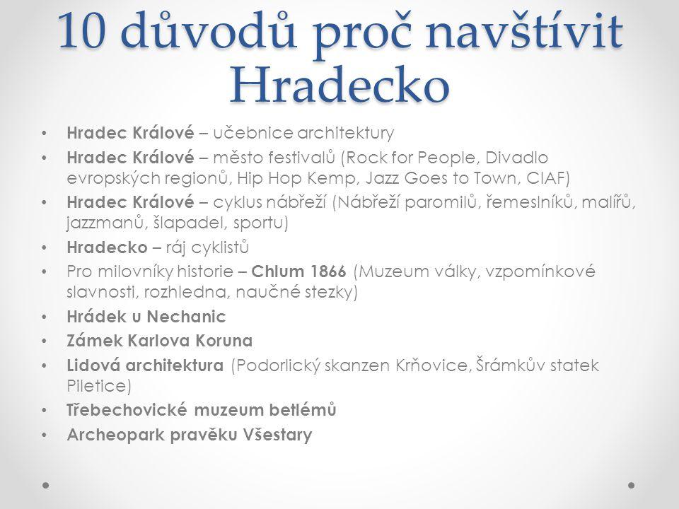 10 důvodů proč navštívit Hradecko • Hradec Králové – učebnice architektury • Hradec Králové – město festivalů (Rock for People, Divadlo evropských reg
