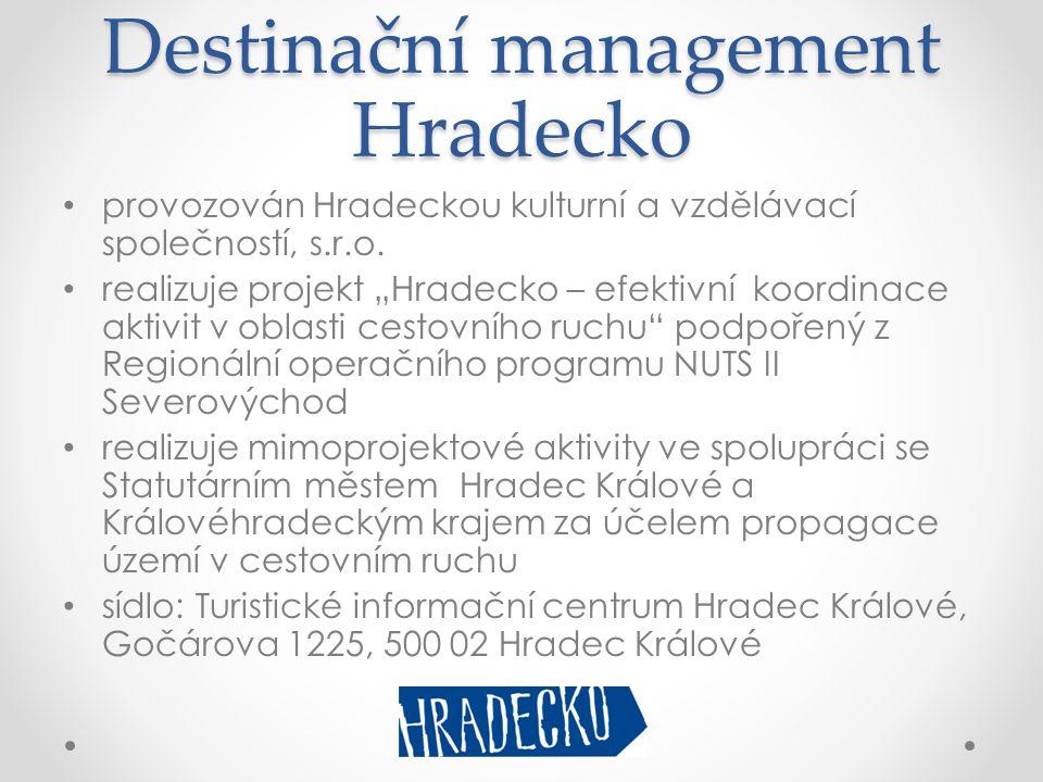 Destinační management Hradecko • provozován Hradeckou kulturní a vzdělávací společností, s.r.o.
