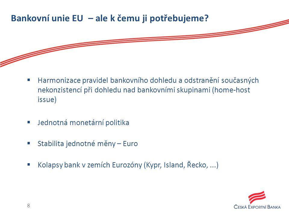 Bankovní unie EU – ale k čemu ji potřebujeme.