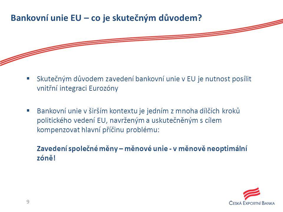 Bankovní unie EU – co je skutečným důvodem.
