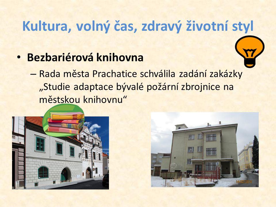 """Kultura, volný čas, zdravý životní styl • Bezbariérová knihovna – Rada města Prachatice schválila zadání zakázky """"Studie adaptace bývalé požární zbrojnice na městskou knihovnu"""